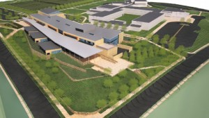 Rendering of new school on Williamsburg campus