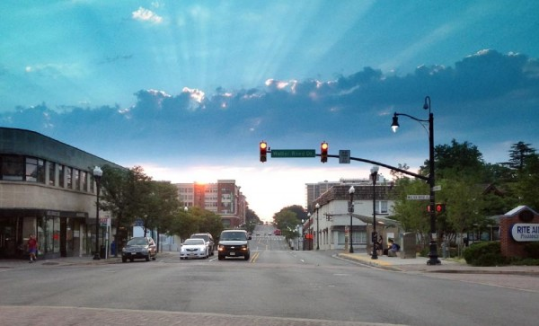 Sunrise over Columbia Pike (photo courtesy Jonathan Nateghi-Asli)