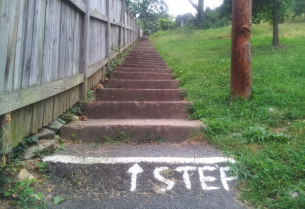 Steps next to the Hume School