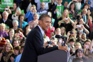 President Obama speaks at Washington-Lee High School