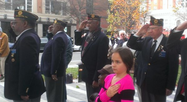 Veterans Day ceremony in Clarendon (photo courtesy Peter Golkin)