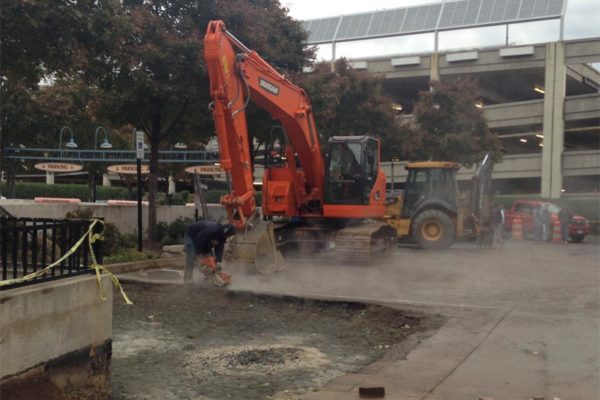 Construction at Pentagon Row (courtesy photo)