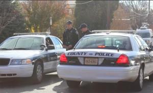 Police investigating tire slashing spree in Hall's Hill on 11/19/13 (photo via @ArlingtonVaPD)