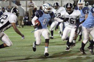 Yorktown High School running back M.J. Stewart in a game against Washington-Lee in 2011
