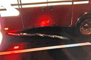 Crash damage to Medic 109 (photo courtesy Robert Eversburg/ACFD)