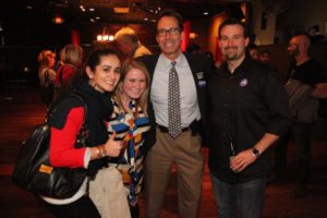Jay Fisette and supporters at a Democratic victory party on Columbia Pike
