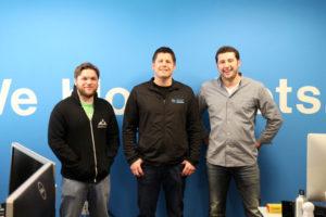 Three members of the Distil Networks team