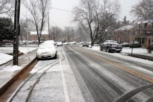 Snow Falling in Buckingham