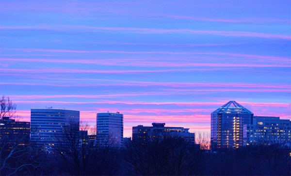 Sunset over Rosslyn (Flickr pool photo by J. Sonder)