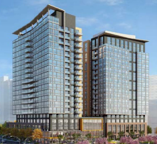 A Rendering Of The Proposed 400 Army Navy Drive Apartment Buildings