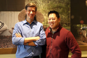 Airside Mobile co-founders Hans Miller, left, and Adam Tsao