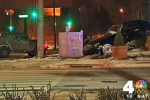 Two vehicles involved in a fatal accident in Rosslyn (screenshot via NBC4)