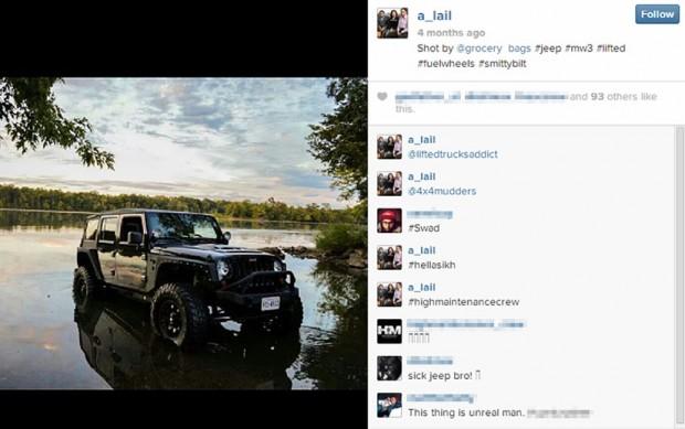 Screenshot via Instagram