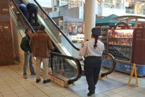 A man fell down an escalator at Pentagon City mall on 1/21/14