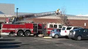 Fire at Yorktown High School (photo courtesy S. Stein)