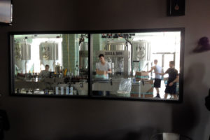 The view of the bottling at 3 Brothers Brewery