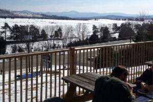 The porch of Devils Backbone's Outpost