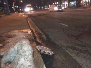 Large pothole on S. Joyce Street in Pentagon City