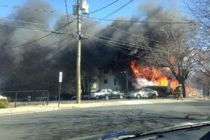 House fire on S. Langley Street (Photo via @Sooo_Sick)