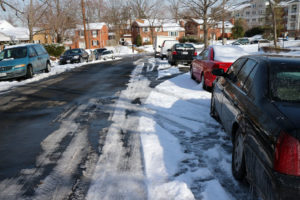 Cars parked along 7th Street S. in Forest Glen