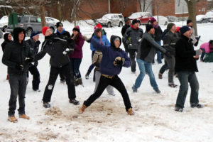 2014 Battle at Ballston snowball fight