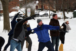 Battle at Ballston snowball fight