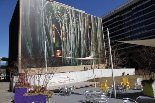 Giant photo mural in Rosslyn