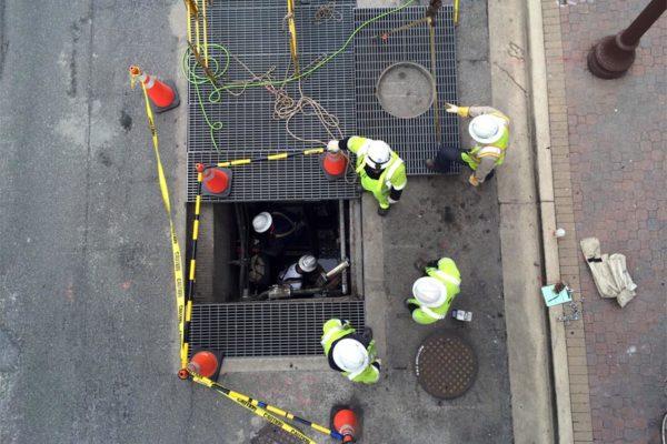 Dominion utility work in Rosslyn