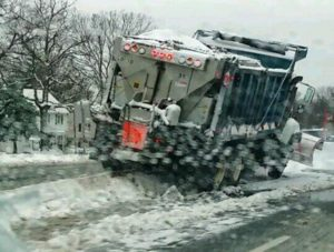 Snow plow accident on Route 50 (Photo courtesy @ATrombs)