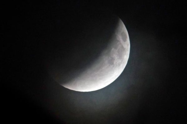 Lunar eclipse (Flickr pool photo by Wolfkann)
