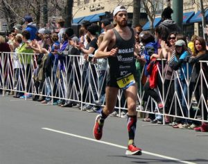 Michael Wardian in the 2014 Boston Marathon (photo courtesy Jenna Downey)