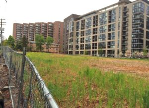 Future site of Rosslyn Commons development