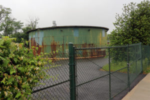 The 'Salt Dome' at the proposed site of Fire Station 8