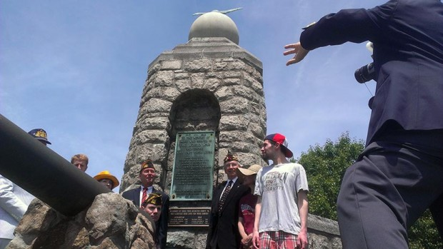 Ceremony at the Clarendon War Memorial (photo courtesy Peter Golkin)