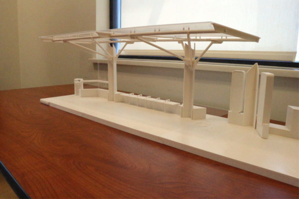 Model of new design for Columbia PIke transit stops