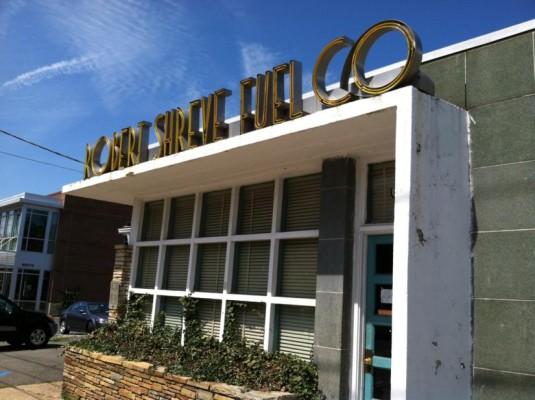 Shreve Fuel Co. building in East Falls Church (photo via Preservation Arlington)
