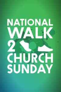 Walk to church Sunday flyer