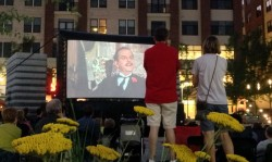 Columbia Pike outdoor movie (photo via CPRO)