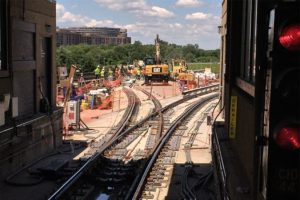 Weekend Metro track work outside of Reagan National Airport station (file photo)