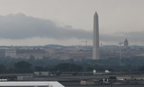 Storm clouds over D.C., as seen from Pentagon City on 6/10/14