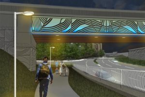 Rendering of westbound Rt 50 shared use path