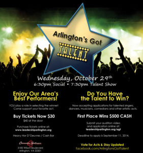 Arlington's Got Talent flyer