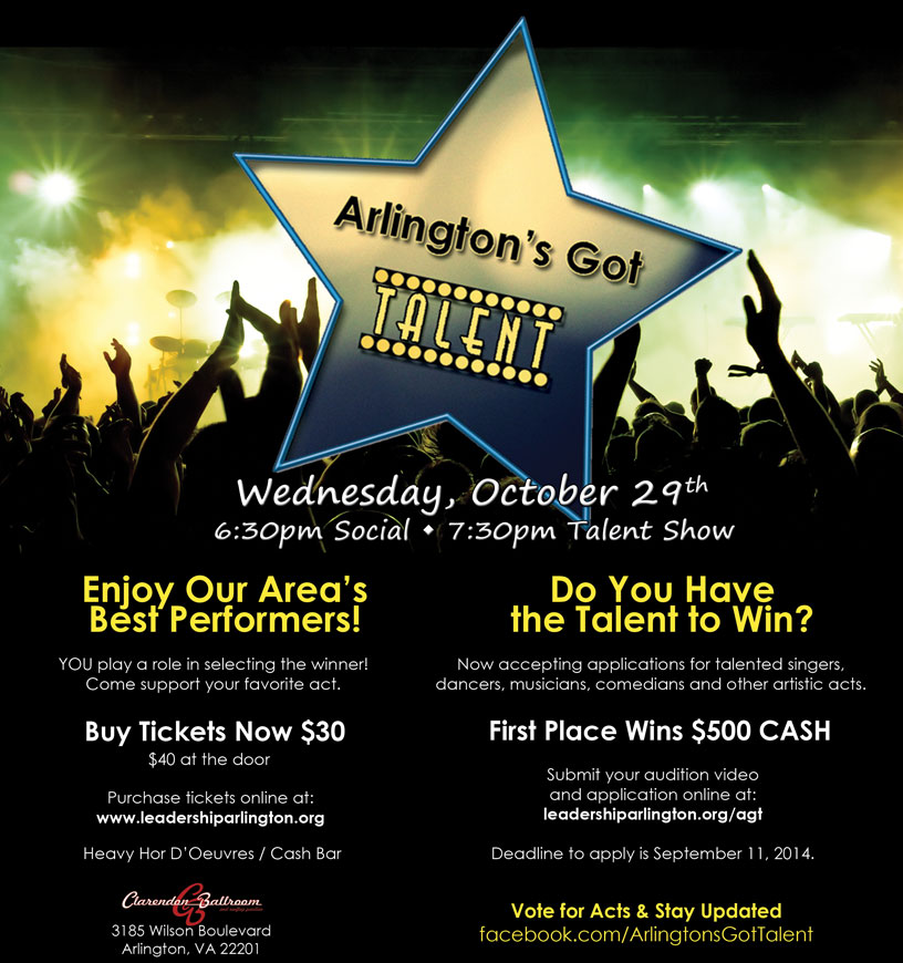 arlingtons got talent flyer