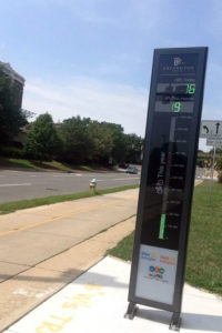 "Arlington's ""Bikeometer"" in Rosslyn"