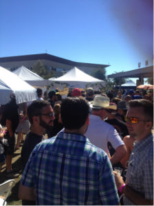 Line for Bruery tastings (Photo by Nick Anderson