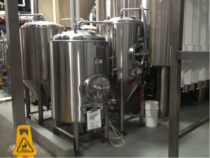 Small tanks at Stone Brewing Company (Photo by Nick Anderson)