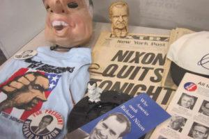 Nixon memorabilia at Central Library (photo courtesy of Arlington Public Library)
