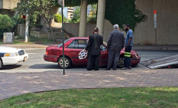 The aftermath of an accident in Rosslyn