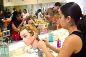 Arlington Career Center students train to be cosmetologists (via Arlington Career Center).