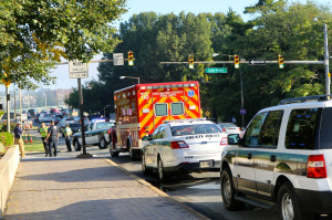 "A pedestrian was struck in the Rosslyn ""intersection of doom"" Sept. 26, 2014."